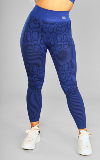 Caitlin Seamless Leggings - Blue - Little By Little