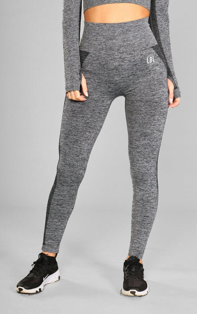 Kira Seamless Leggings - Dark Grey - Little By Little