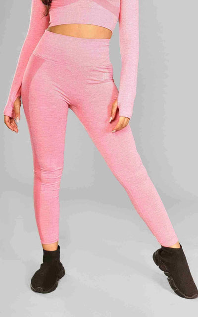 Kira Seamless Leggings - Pink - Little By Little