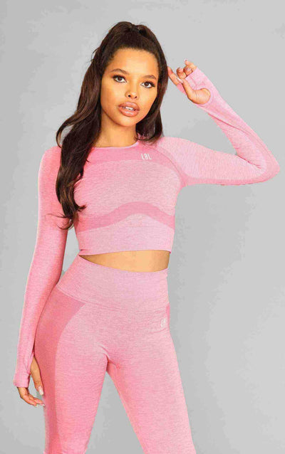 Kira Seamless Top - Pink - Little By Little