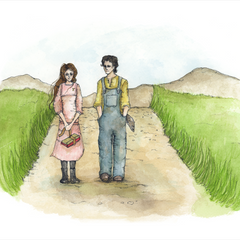 """East of Eden"" Watercolor Gilcee Print"