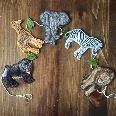 Wild Safari Garland // Handmade African Animal Garland // 2015