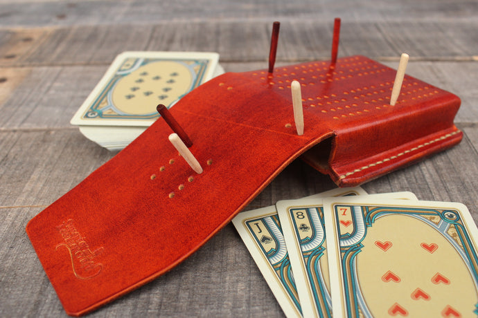Travel Cribbage Board - Cedar