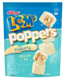 Kelloggs LCMs® Poppers Yoghurty 100g