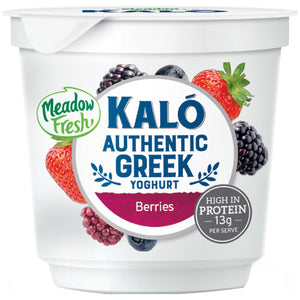 CARTON (8) MeadowFresh Kalo Greek Yoghurt Berries 160g