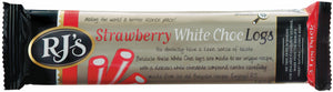 RJ's Strawberry White Chocolate Logs Triple Pack