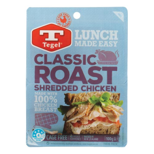 Tegel Shredded Roast Chicken 100g