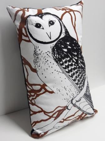Cushion - Endangered Tasmanian Masked Owl (rectagular)
