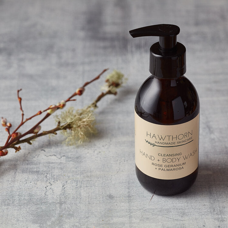 Cleansing Hand + Body Wash Rose Geranium + Palmarosa