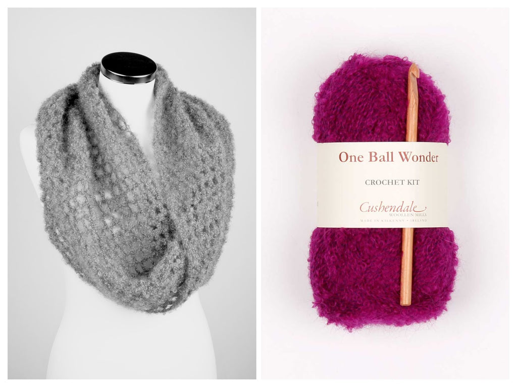 Snood Mohair Crochet Kit, available in a no. of colours