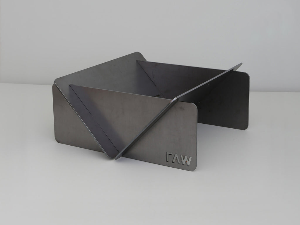 Raw Steel Firepit :
