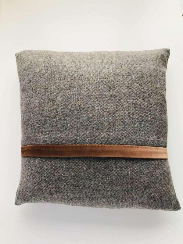 Tweed Square Cushion Bracken Cocoa