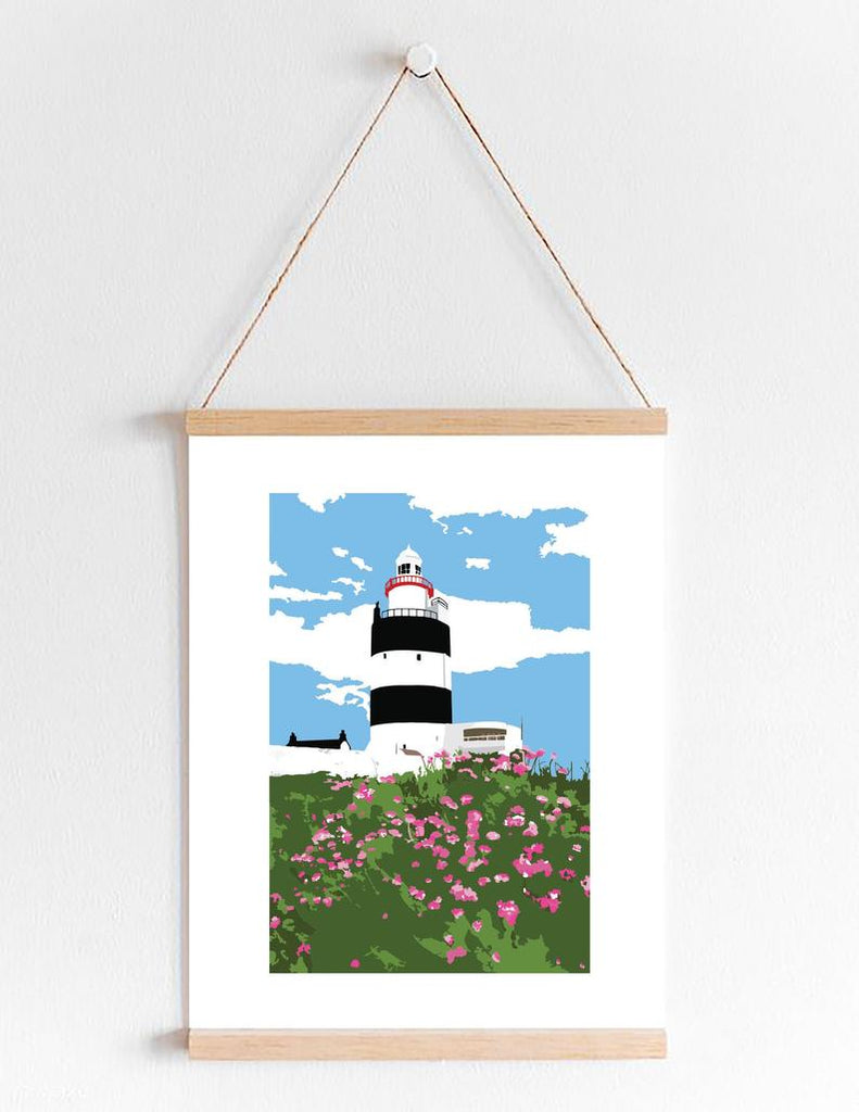 Hook Lighthouse in Sea Pink