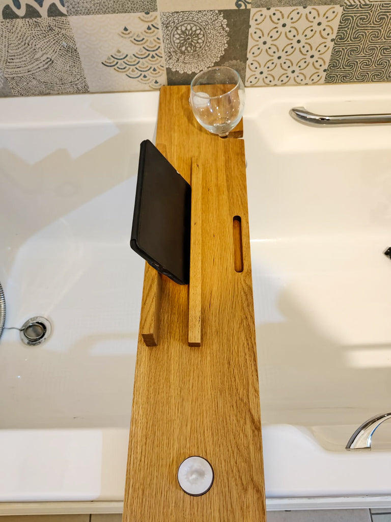 Hand Craft Solid Oak Bath Tray
