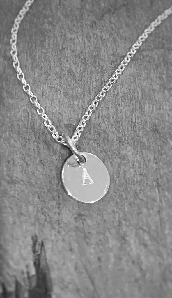 Silver Chain with Initial Disc