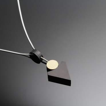 Silver Drop Pendant Arra Black