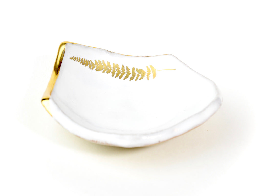Jewellery Fern bowl large white