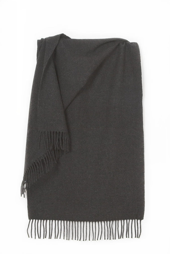 Lambswool Solid Stole Charcoal