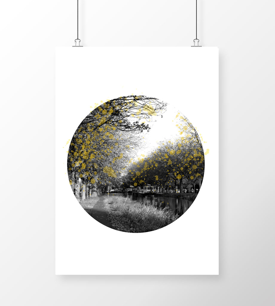 A4 Art Print Grand Canal in Autumn