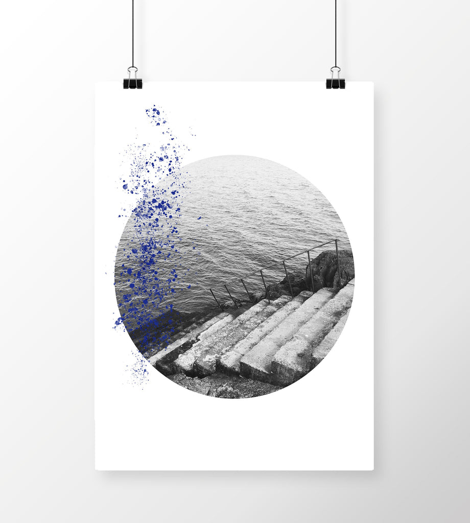 A4 Art Print Sea Steps