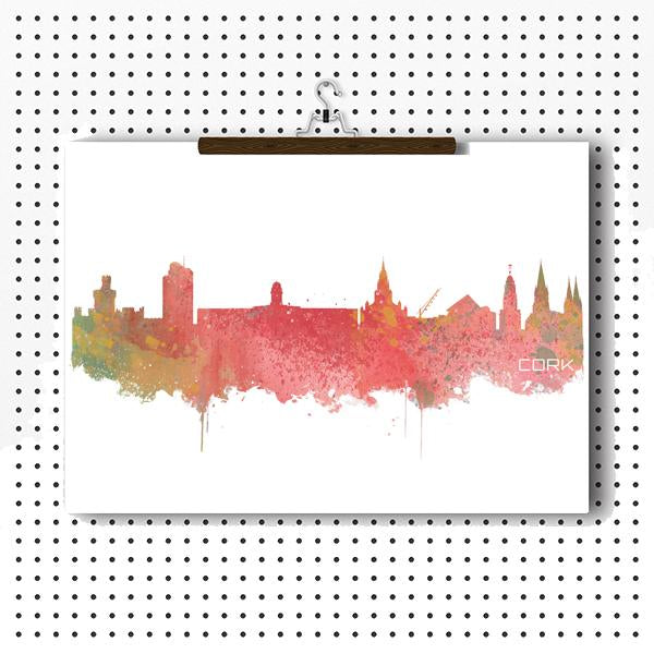 A4 Art Print Cork Skyline 02