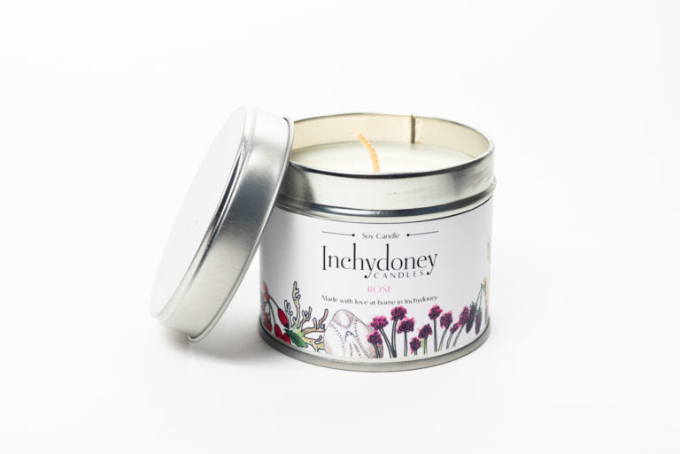 Travel Tin Candle Rose