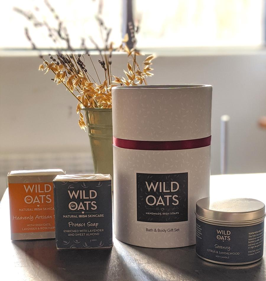 Wild Oats Bath and Body Gift Box: Serenity Gift Set