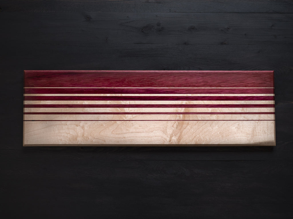 Maple x Purpleheart Gradient Charcuterie Board