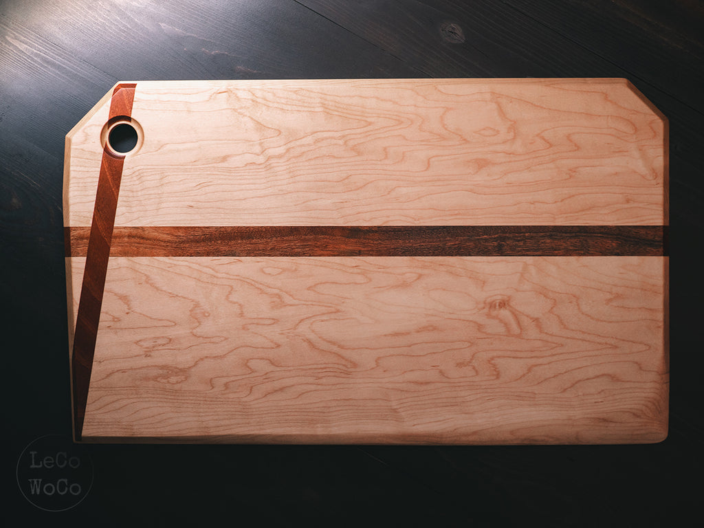 Maple + Sapele Charcuterie Board