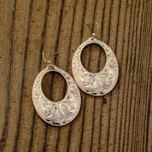 Long Oval Earrings