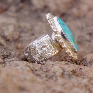 Size 6 Sonoran Gold Turquoise Ring