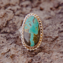 Load image into Gallery viewer, Size 6.5 Turquoise Ring