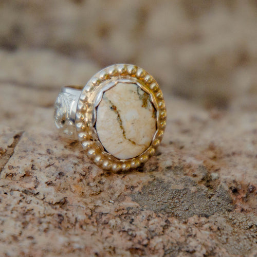 Size 8.5 Wild Horse Accent Ring