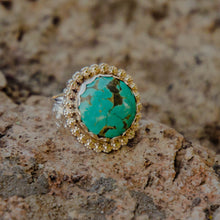 Load image into Gallery viewer, Size 9 Round Royston Turquoise Accent Ring