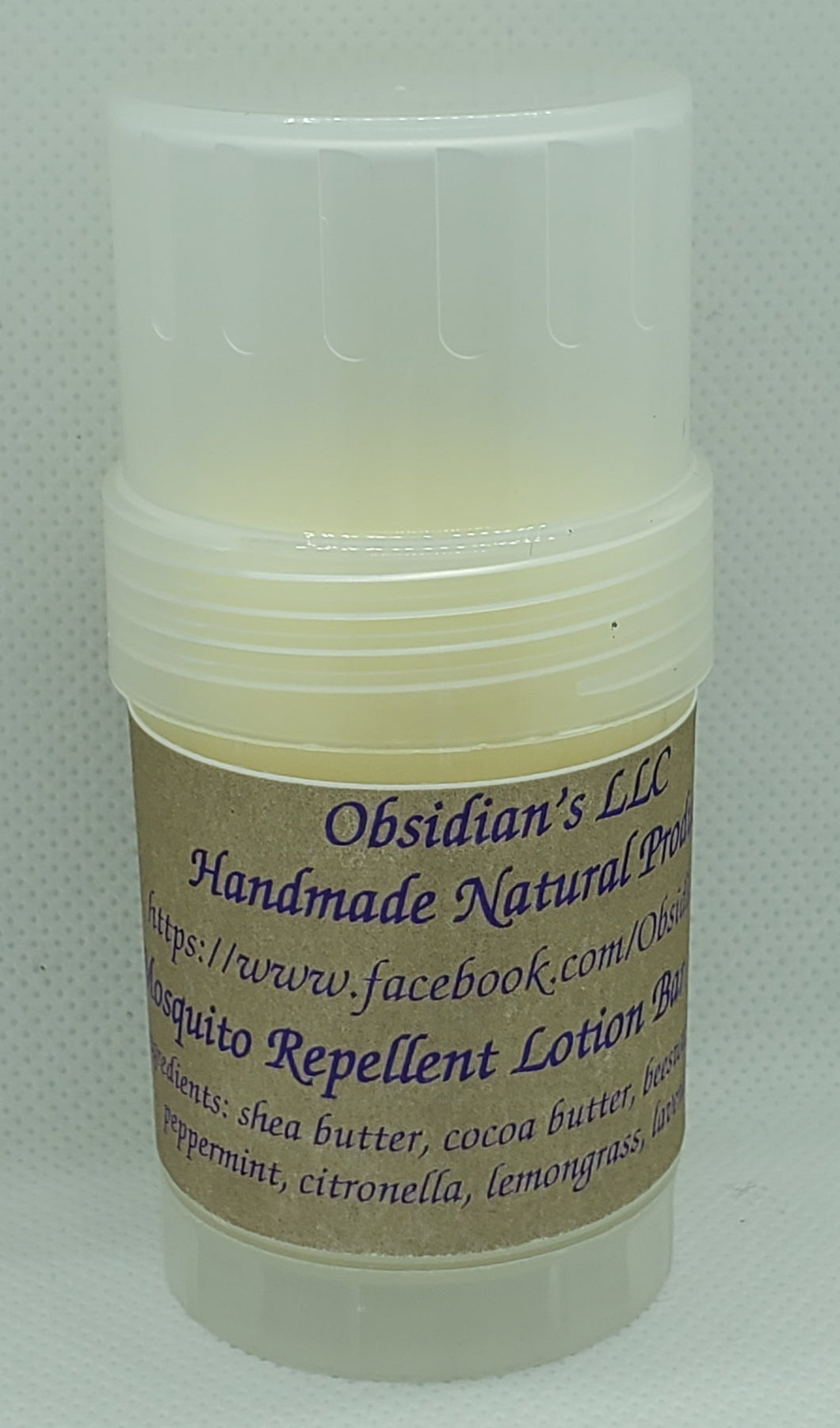 Mosquito Repellent Lotion Bar - Obsidian's LLC