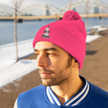 Load image into Gallery viewer, I Am That 1 Pom Pom Beanie - Obsidian's LLC