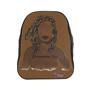 Proverbs 31 Locs School Backpack - Obsidian's LLC