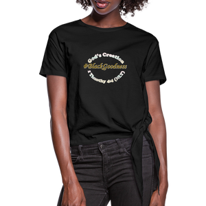 Black Goodness Knotted T-Shirt - Obsidian's LLC