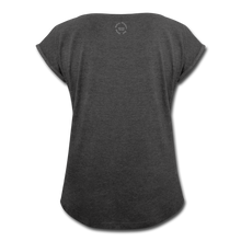 Load image into Gallery viewer, Black Goodness Roll Cuff T-Shirt - Obsidian's LLC
