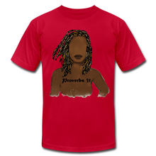 Load image into Gallery viewer, Proverbs 31 Locs Jersey T-Shirt by Bella + Canvas - Obsidian's LLC