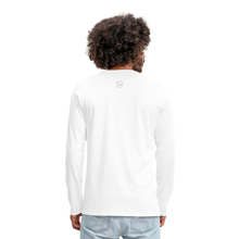 Load image into Gallery viewer, NO FEAR Men's Premium Long Sleeve T-Shirt - white