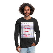 Load image into Gallery viewer, NO FEAR Men's Premium Long Sleeve T-Shirt - black