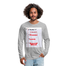 Load image into Gallery viewer, NO FEAR Men's Premium Long Sleeve T-Shirt - heather gray