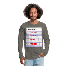 Load image into Gallery viewer, NO FEAR Men's Premium Long Sleeve T-Shirt - asphalt gray