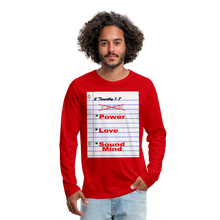 Load image into Gallery viewer, NO FEAR Men's Premium Long Sleeve T-Shirt - red