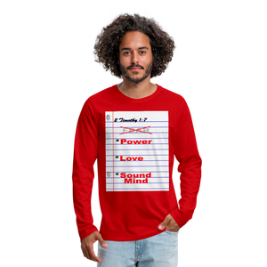 NO FEAR Men's Premium Long Sleeve T-Shirt - red
