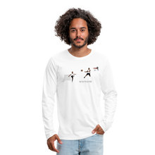 Load image into Gallery viewer, Amari Men's Premium Long Sleeve T-Shirt - white