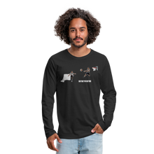 Load image into Gallery viewer, Amari Men's Premium Long Sleeve T-Shirt - black