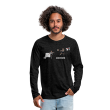 Load image into Gallery viewer, Amari Men's Premium Long Sleeve T-Shirt - charcoal gray