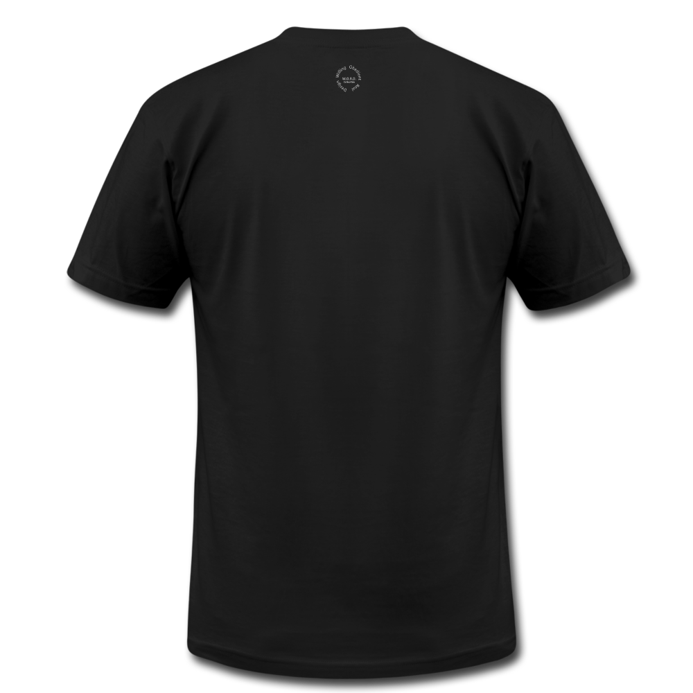 That One Unisex Jersey T-Shirt by Bella + Canvas - black